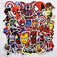 BESTPICKS 100 pcs Superhero Sticker Snowboard Car Styling Sleigh Box Luggage Fridge Laptop Toy Vinyl Decal Home Decor Cool Stickers