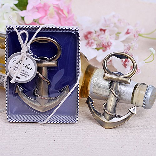 20pcs Nautical Theme Anchor Beer Bottle Opener Party Favors Gift Favor for Beach Wedding Baby Shower Birthday by Feracci]()