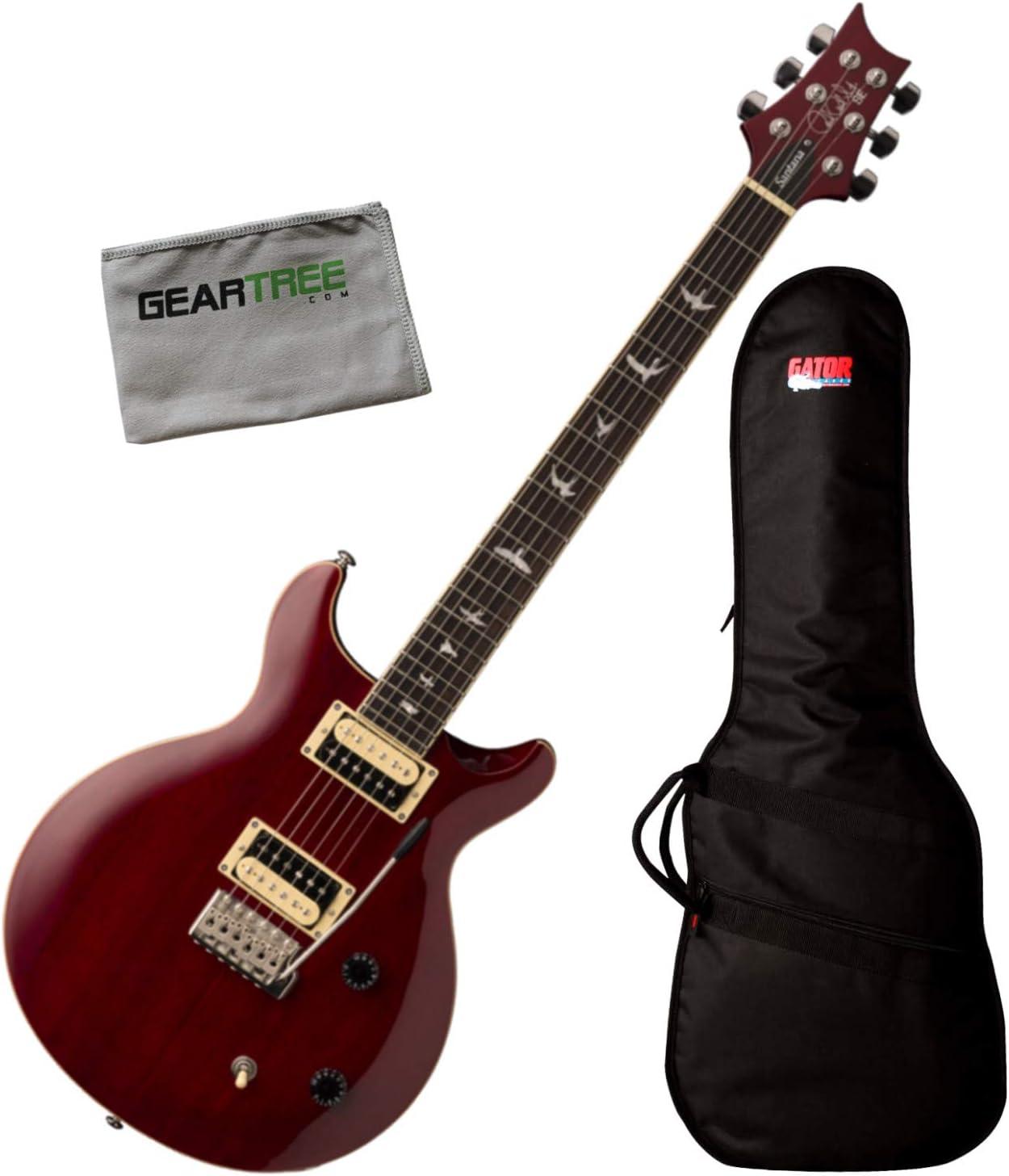 PRS SE Santana Vintage Cherry Standard - Guitarra eléctrica (con ...