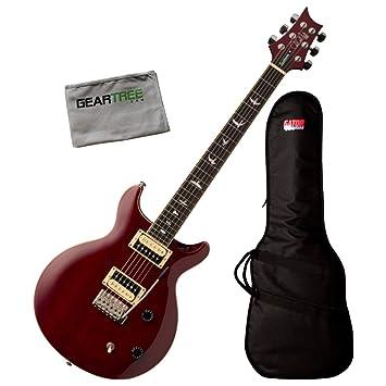 PRS SE Santana Vintage Cherry Standard - Guitarra eléctrica (con bolsa y ropa): Amazon.es: Instrumentos musicales