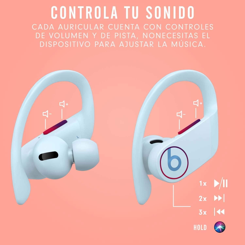 Powerbeats Pro - Auriculares intraurales inalámbricos - Chip Apple H1, Bluetooth de Clase 1, 9 horas de sonido ininterrumpido, resistentes al sudor - Azul Hielo: Amazon.es