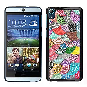 For HTC Desire D826 , S-type® Pattern Crocheted Embroidery - Arte & diseño plástico duro Fundas Cover Cubre Hard Case Cover