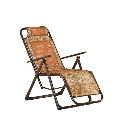 Bamboo Recliner/Folding Lunch Break Chair/Senior Napping Office Chair/Summer  Cool Chair
