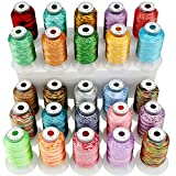 New brothread 25 Colors Variegated Polyester