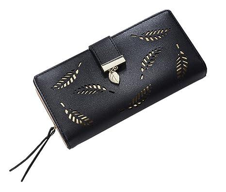283229671e52 Amazon.com: JNCLEO Women Wallet Leather Card Coin Holder Money Clip ...