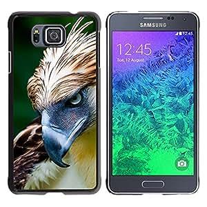 FlareStar Colour Printing Hawk Bird Feathers Prey Summer Green cáscara Funda Case Caso de plástico para Samsung GALAXY ALPHA G850