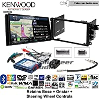 Volunteer Audio Kenwood Excelon DNX994S Double Din Radio Install Kit with GPS Navigation Apple CarPlay Android Auto Fits 2003-2005 Chevrolet Blazer, 2003-2006 Silverado, Suburban (Bose, Onstar, SWC)