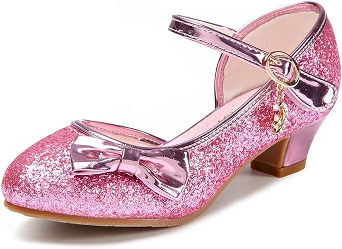 JTENGYAO Girls Princess Shoes Glitter