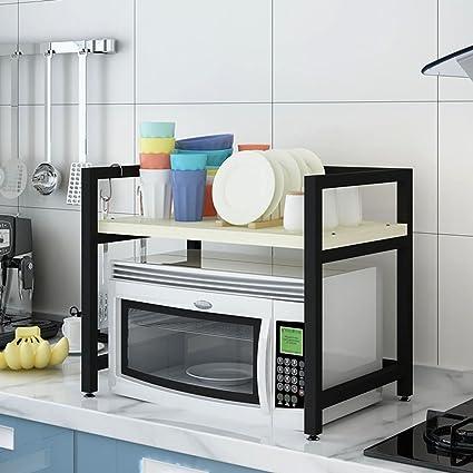 HWF Unità di mensole Scaffali per cucina a muro a microonde ( Colore ...
