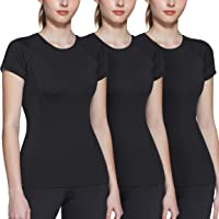 ATHLIO 3 Pack Women's Short Sleeve Workout Shirts, Moisture Wicking Sports Tops, Active Sports Running Exercise Gym Tee…