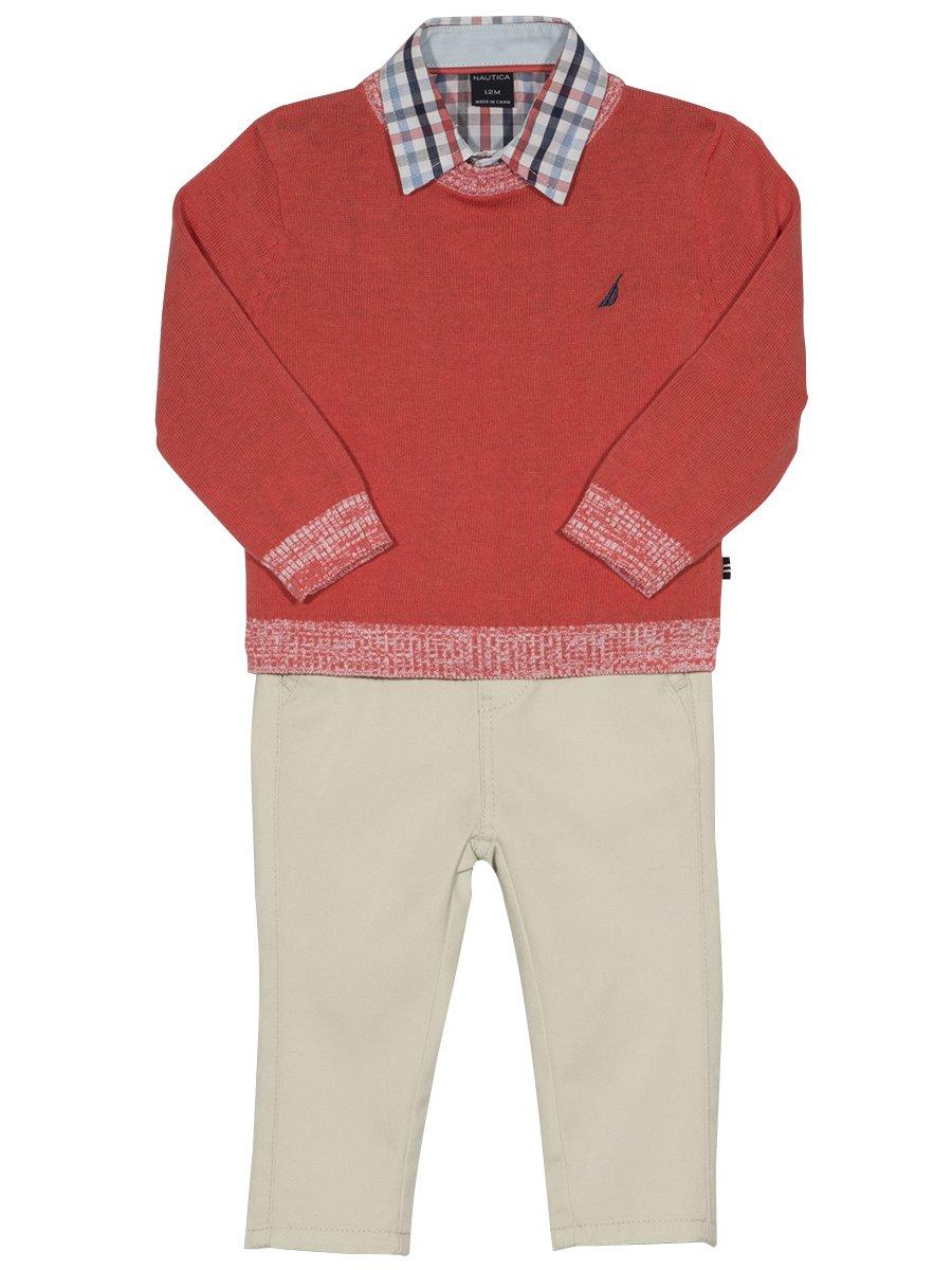 Nautica Baby boys set Tee /& Pants Set 12,18,24 months 3-Piece Hoodie