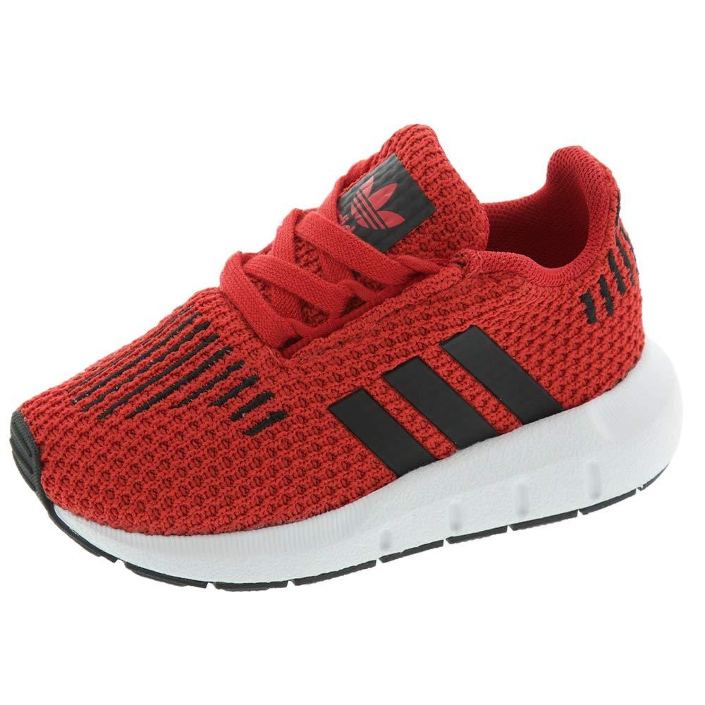 adidas Originals Baby Swift Running Shoe, Scarlet/Black/White, 4K M US Toddler