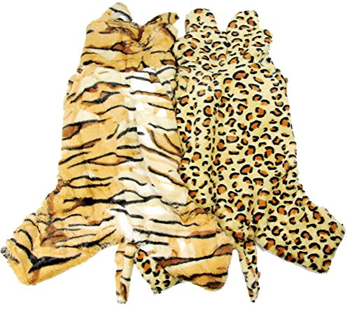 Woo Woo Pets Lovely Autumn/Winter Big Dogs Cosplay Tiger Warm Pet Costume Tiger Stripes 2XL