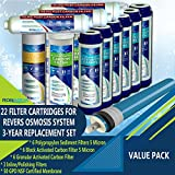 Filter Replacement Set for 5-Stage Reverse Osmosis Water...