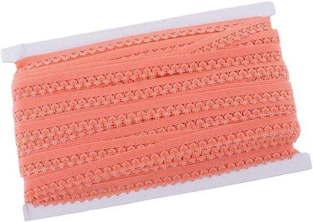 Orange Hellery 50 Yards Gummiband W/äschegummi Ziergummi Gummib/änder R/üschenborte Verzierung Farbwahl
