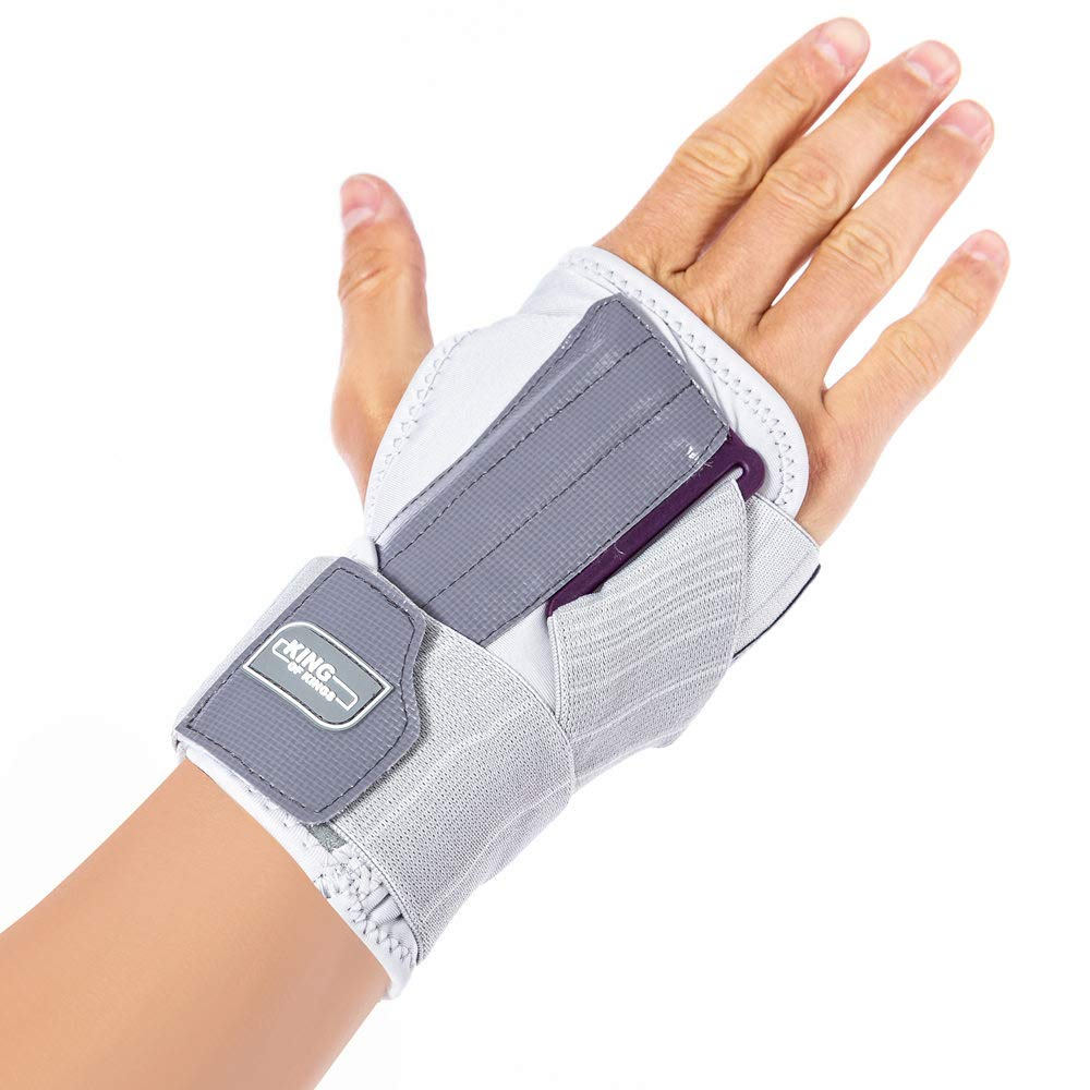 Carpal Tunnel Wrist Brace Night - Hand Sleep Support with Splints for tendonitis, Pain Relief, Injuries, Sprain Right Hand