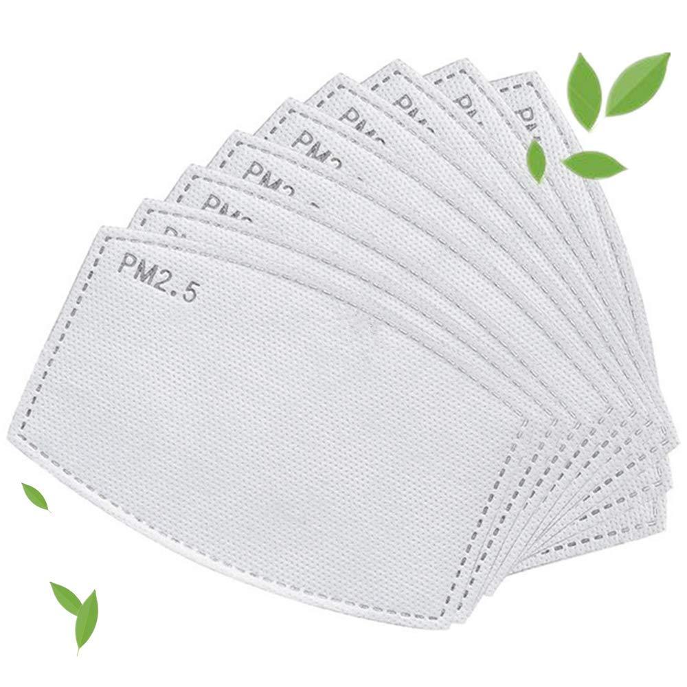 50 filtros de carbón activado PM 2.5, elementos filtrantes reemplazables antivaho y a prueba de polvo