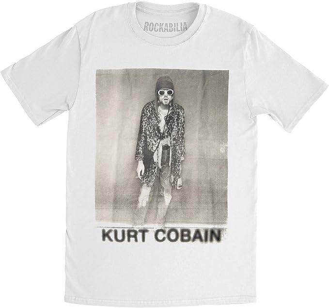 Nirvana Men/'s  Kurt Cobain Smoking Box Photo Regular Mens T T-shirt White
