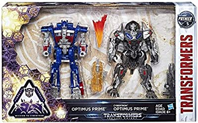 Optimus Prime and Cybertron Optimus Prime Transformers The Last Knight : Mission to Cybertron: 2 Pack Figures ToysRus Exclusive