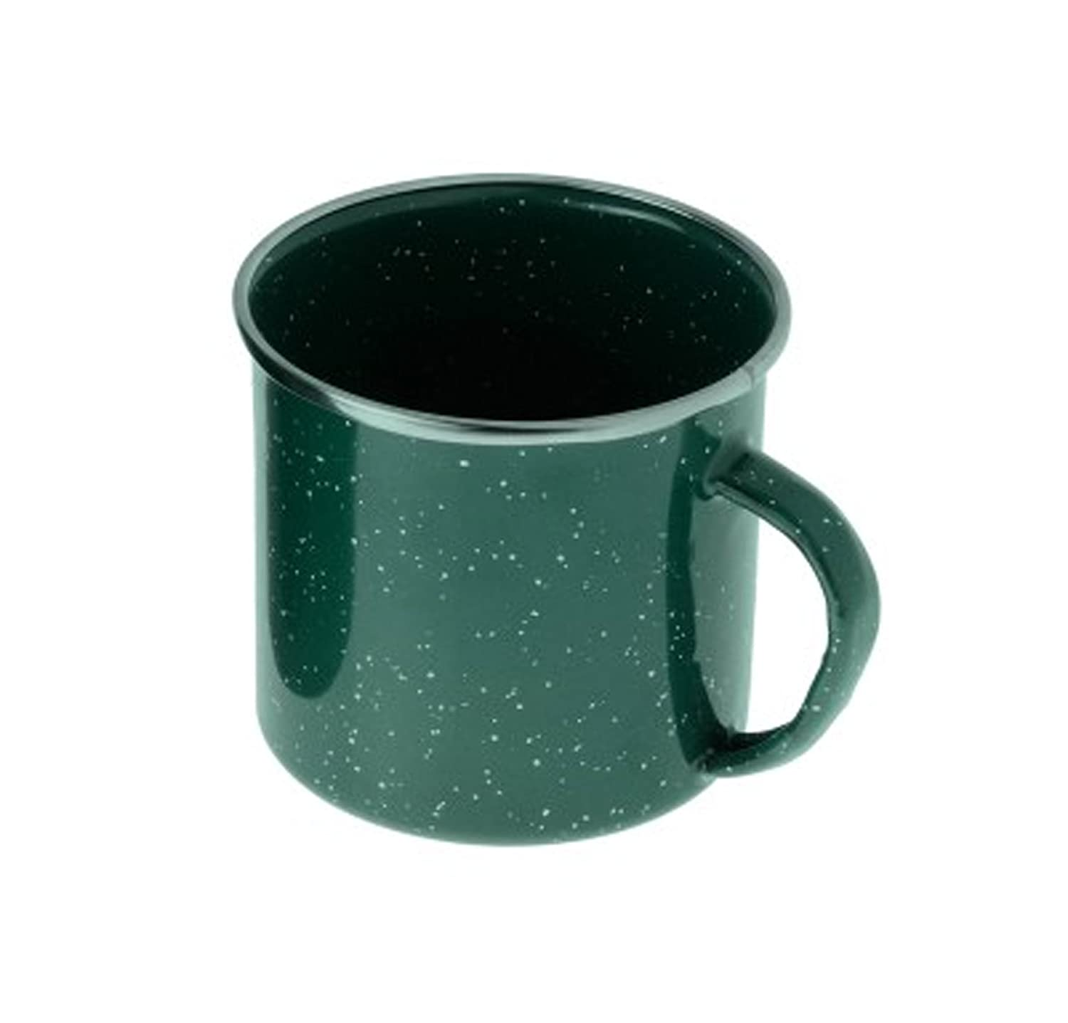 GSI Outdoors verde borde de acero inoxidable Graniteware 12 oz taza, 25218