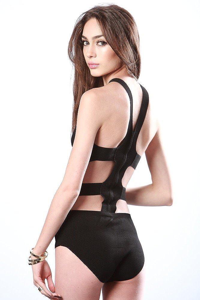 Amazon.com: Sexy Strappy vendaje Recorte De La Mujer Body de ...