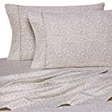 400 Thread Count Luxurious 100% Egyptian Cotton Set of 4 Short Queen 60x75 (1 Fitted sheet,1 Flat Sheet, 2 Pillows covers) for Camper/RV by Rajlinen (Vine Printed Taupe)