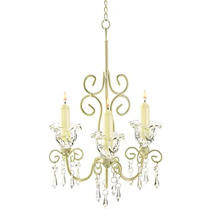 Amazon antique chandelier candle holder hanging candle antique chandelier candle holder hanging candle chandelier white ivory metal aloadofball Images