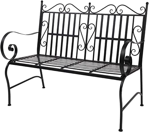 Outdoor Patio Swing Glider Bench Chair, Iron Double Sofa Chair
