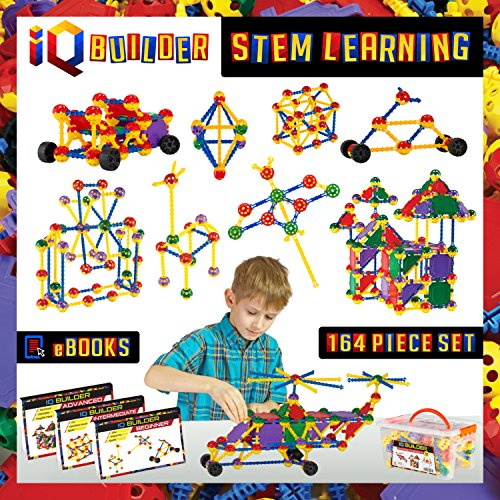 30 Construction Piece Set (IQ BUILDER | STEM Learning Toys | Creative Construction Engineering | Fun Educational Building Toy Set for Boys and Girls Ages 3 4 5 6 7 8 9 10 Year Old | Best Toy Gift for Kids | Top Blocks Game Kit)