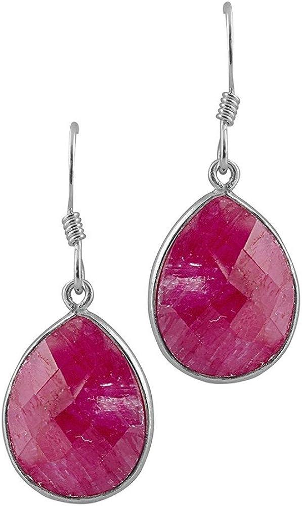 DV Jewels Red Briolette Drop Earrings