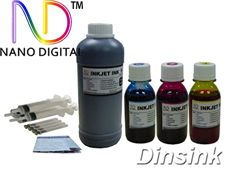Ink cartridge refill kit, bulk ink for HP printer 16 oz  Black & 12 oz   Color (C+M+Y)