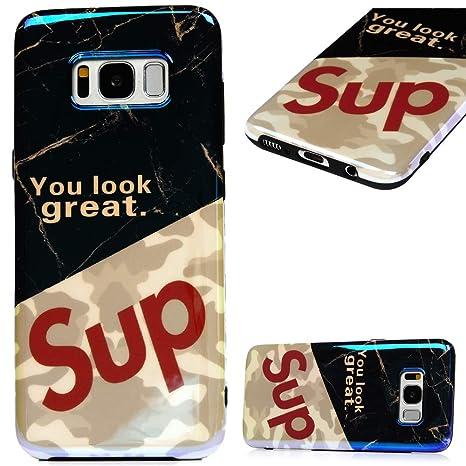 MUSESHOP Funda Samsung Galaxy S8, BLU-Ray Carcasa de TPU IMD ...
