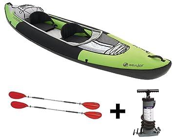 Sevylor Yukon kcc380 Touren Kayak Juego + 2 Doble Remo + Doble Hub ...