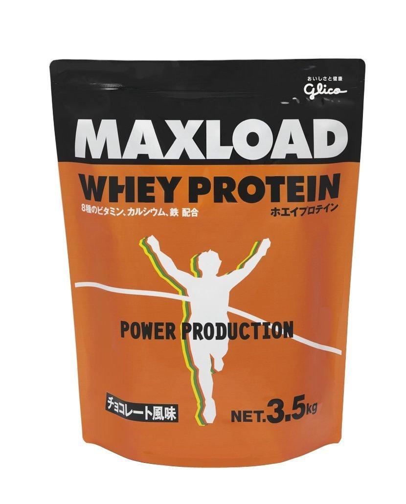 ホエイプロテイン Glico MAXLOAD B00PJOKEVW . チョコレート風味 (グリコ) . 3.5kg
