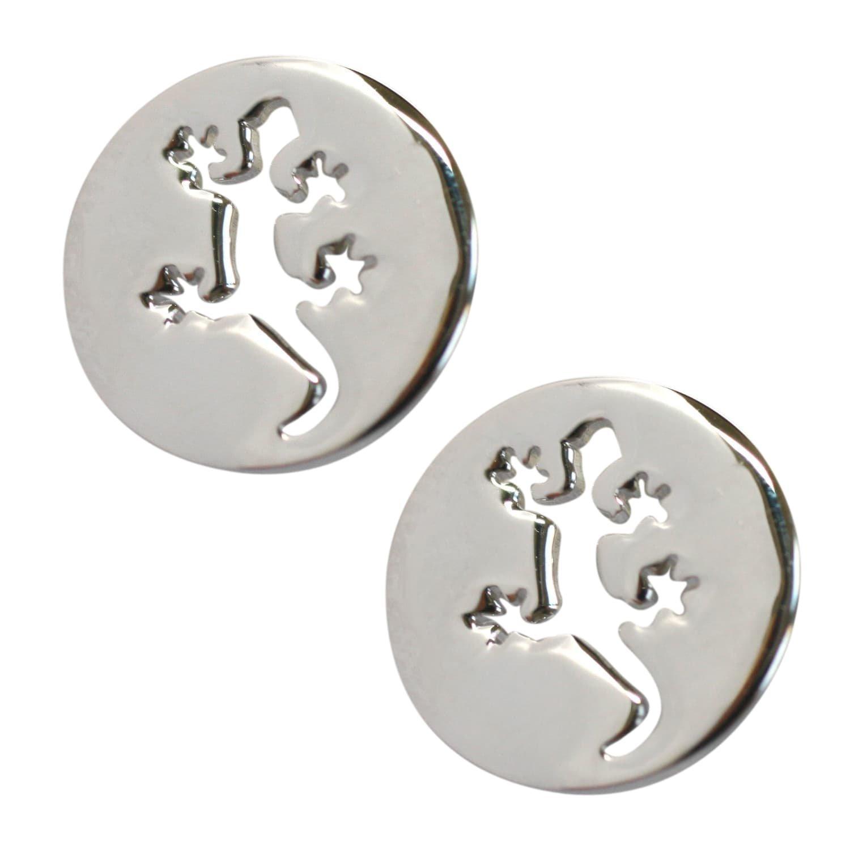 925 Sterling Silver Salamander Gecko Lizard Stud Earrings So Chic Jewels