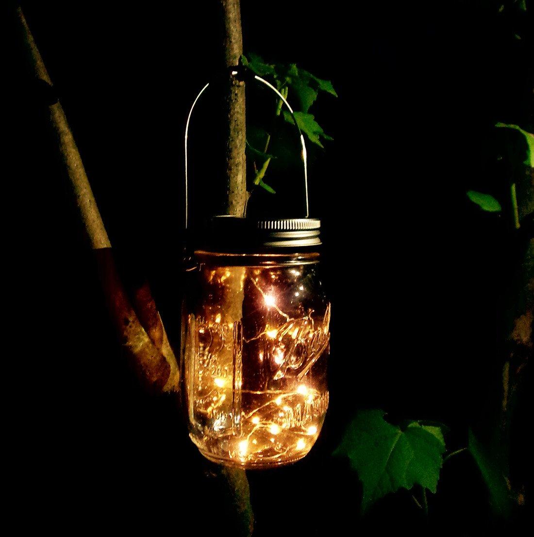 Solar Mason Jar Lid Lights 6 Pack 20 Led String Fairy