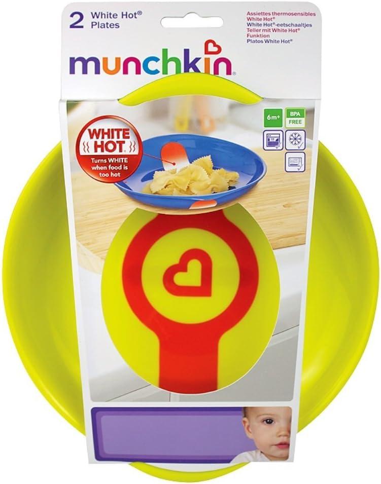 Munchkin 2 Assiettes Thermosensibles White Hot