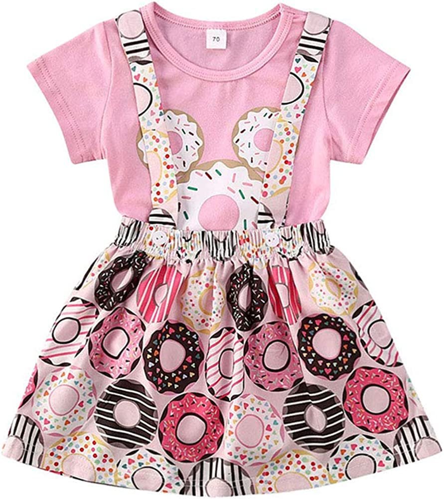 Dress /& Shorts in one. Unique Baby Girl Suspender Jumpsuit Skirt