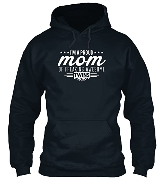 teespring Sudadera con Capucha Hombre - - Im a Proud mom of Awesome Twins: Amazon.es: Ropa y accesorios