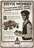 Rusty Walls Sign Shop Atari Stevie Wonder RARE Ad, Gaming, Game Room 10'' x 7'' Reproduction Metal Sign