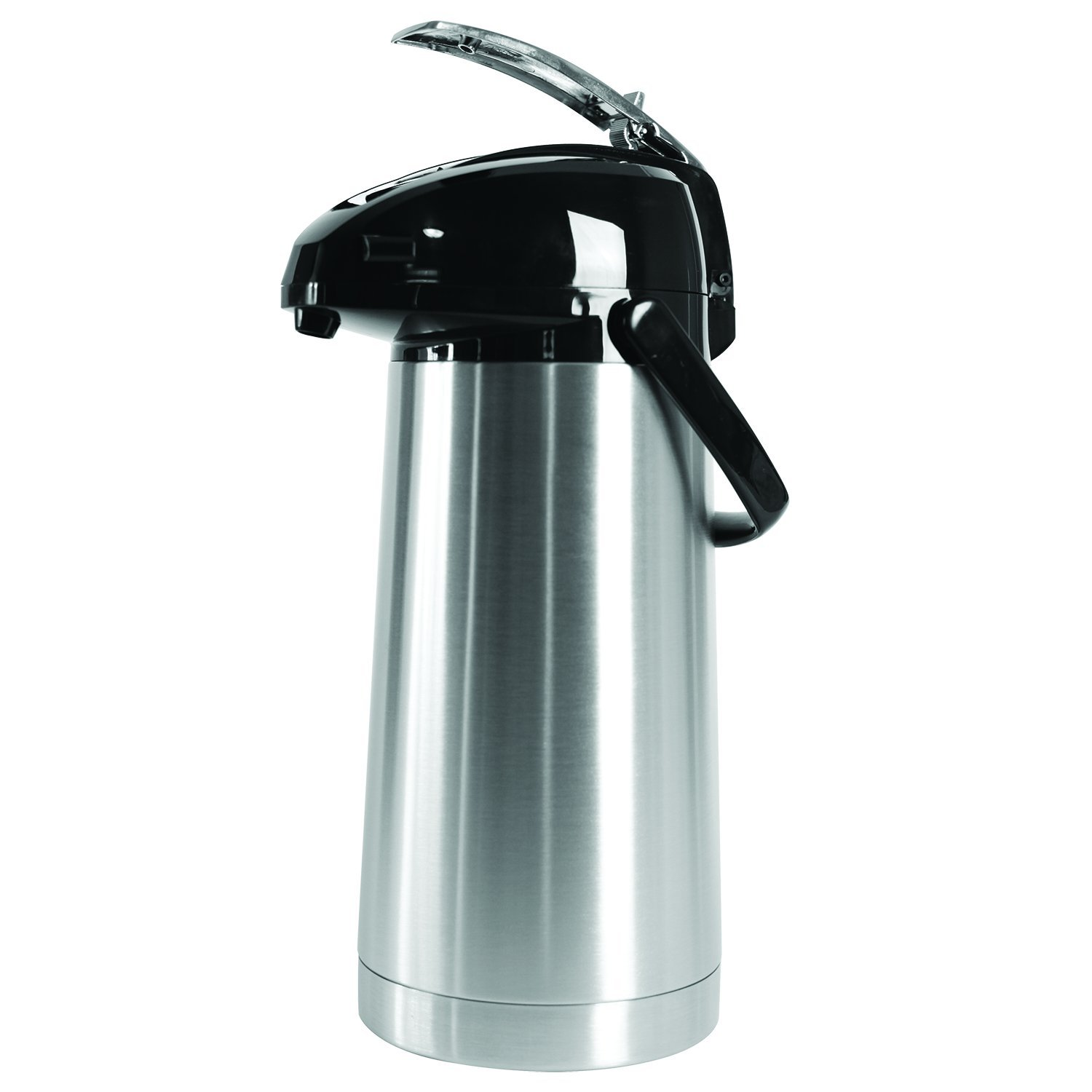 Service Ideas SAL30 Airpot with Lever, Stainless Steel Lined, 3.0 L, Brushed with Black Accents
