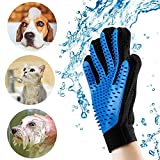 Pet Grooming Gloves, Pet Hair Remover Brush Glove for Cats Dogs & Horses Bath Massage Hair Removal Gloves Brush (1 Pair)