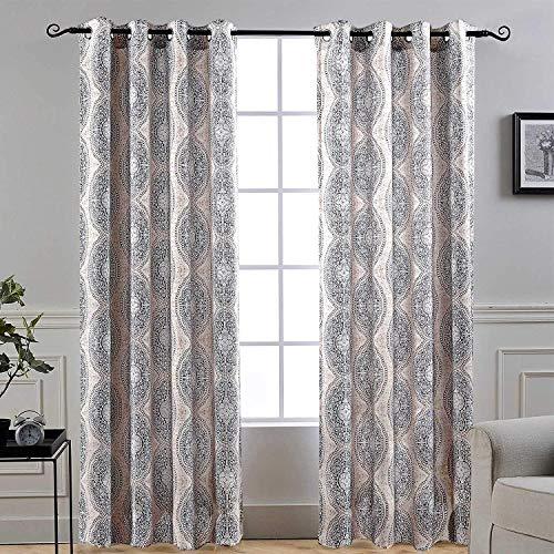 Unlined Set - DriftAway Adrianne Thermal/Room Darkening Grommet Unlined Window Curtains, Set of Two Panels, Each (52