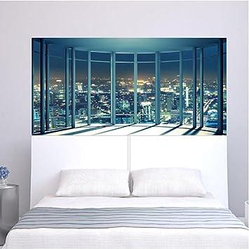 3D Fensterbank Landschaft Muster Wandaufkleber Dekoration Wohnzimmer ...