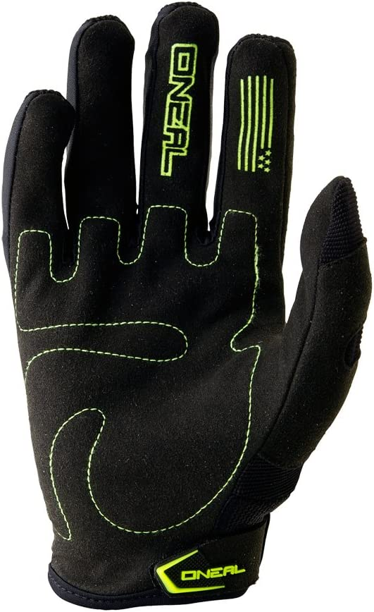 0390-506 Oneal Element 2017 Youth Motocross Gloves L Hi-Vis Black