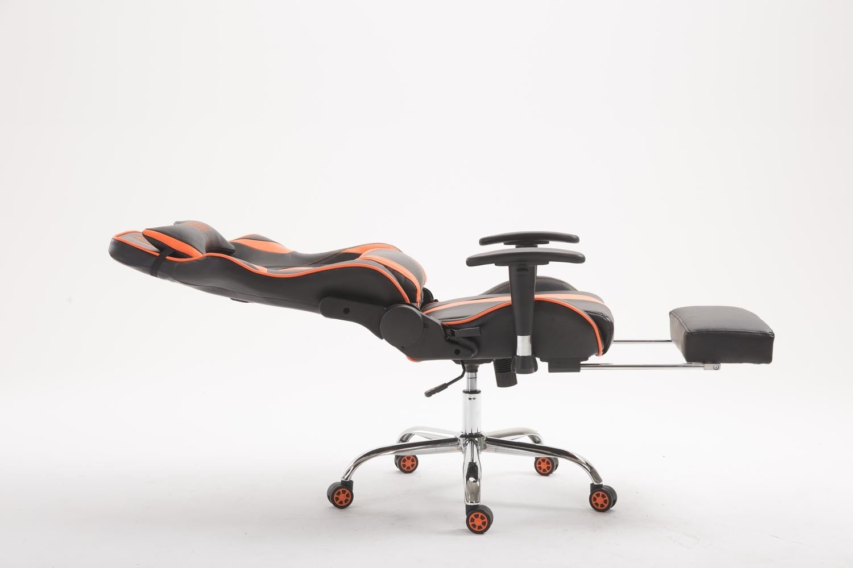 CLP Bürostuhl Limit Limit Limit V2 mit hochwertiger Polsterung und Kunstlederbezug I Gamingstuhl mit Metallgestell I Höhenverstellbarer Schreibtischstuhl schwarz braun, ohne Fußablage bb54dc