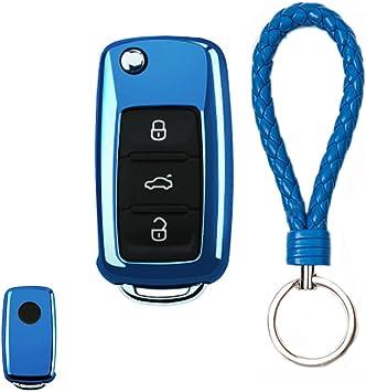2pcs Car Automotive Key Fob Holder Shell Case Protection for VW Jetta Passat