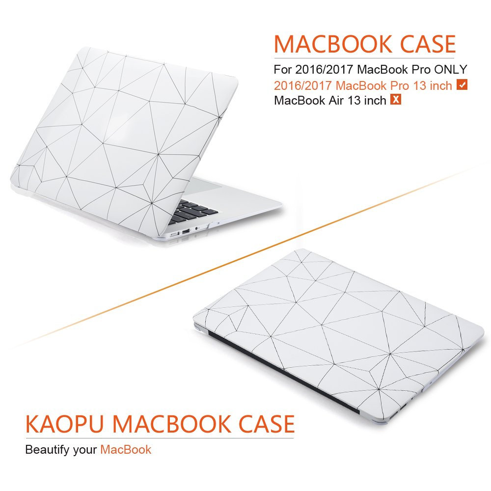 MacBook Case Plastic Hard Shell Cover for 13 Inch Apple MacBook Pro A1706/A1708 (Office Style) by KAOPU (Image #5)