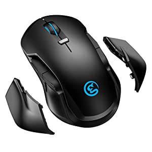 Wireless Game Mouse GameSir GM300 Rechargeable, 16,000 DPI, 4 Programmable Buttons, 4 Detachable Side Cover USB Computer Mouse with RGB Lighting PC Gaming Mouse for Computer, PC, Laptop, MacBook