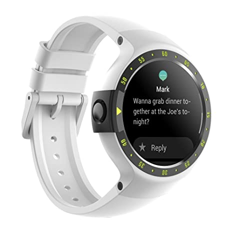 Ticwatch S Smartwatch-Glacier,1.4 inch OLED Display, Android Wear 2.0,Compatible with iOS and Android, Google Assistant (Renewed)